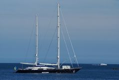 Luxury Sailing boat. A sailing boat in Antibes (French Riviera - France Stock Photo