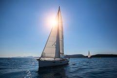 Luxury sailing ship yachts boat Royalty Free Stock Image
