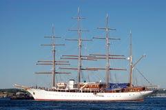 Luxury sailing yacht Stock Photo
