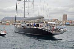 A Luxury Sailing Yacht Stock Image
