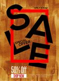 Luxury Sale concept poster Royalty Free Stock Image