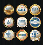 Luxury sale golden labels collection Stock Images