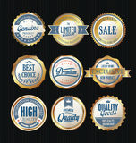 Luxury sale golden labels collection Royalty Free Stock Images
