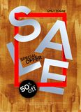 Luxury Sale poster Stock Photography