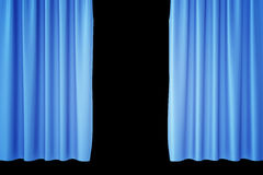 Luxury scarlet blue silk velvet curtains realistic. 3d rendering. Luxury scarlet blue silk velvet curtains realistic, 3d rendering Royalty Free Stock Image