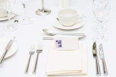 Luxury scottish wedding gala table setting Stock Photography