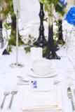 Luxury scottish wedding gala table setting Stock Images