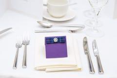Luxury scottish wedding gala table setting Stock Image