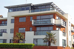 Luxury seafront apartments Royalty Free Stock Photo