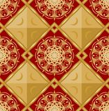 Luxury seamless background with gold geometric patterns Royalty Free Stock Photography