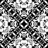 Seamless black & white pattern vector illustration Royalty Free Stock Photo