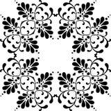 Seamless black & white pattern vector illustration Stock Image