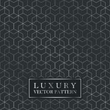 Luxury seamless geometric pattern - grid gradient texture. Dark vector background royalty free illustration