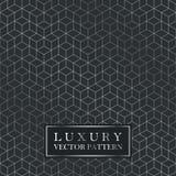 Luxury seamless geometric pattern - grid gradient texture. Dark vector background Stock Photo
