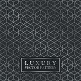 Luxury seamless geometric pattern - grid gradient texture. Dark vintage vector background Stock Photo