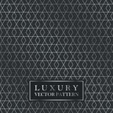 Luxury seamless geometric pattern - grid gradient texture. Dark vintage vector background Royalty Free Stock Photos