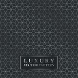 Luxury seamless geometric pattern - grid gradient texture. Dark vintage vector background Royalty Free Stock Photo
