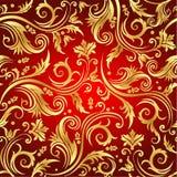 Luxury seamless golden floral wallpaper Royalty Free Stock Photos