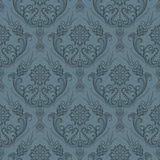 Luxury seamless grey floral wallpaper stock illustration