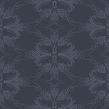 Luxury seamless grey floral wallpaper royalty free illustration