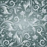 Luxury seamless grey floral wallpaper Stock Photos