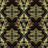 Luxury seamless ornamental Wallpaper. Stock Photo