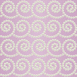 Luxury seamless pattern with pearls wavy borders Stock Photo