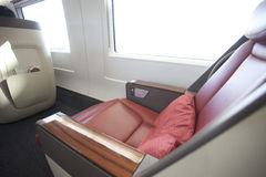 Luxury seat of CHina high speed train Stock Photo