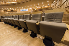 Luxury seat in theater Royalty Free Stock Images