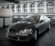 Luxury sedan car 3d illustrated Stock Images