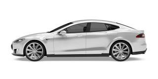 Luxury Sedan Car Isolated. On white background. 3D render Stock Image