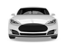 Luxury Sedan Car Isolated. On white background. 3D render Stock Photography