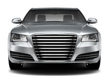 Luxury sedan front view Stock Photography