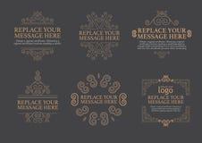 Luxury Set template vector illustration