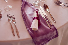 Luxury setting on the wedding or dinner table Royalty Free Stock Image