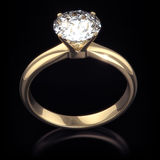 Luxury shining diamond ring with clipping path Royalty Free Stock Photo