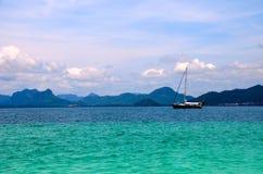 Luxury Ship. In Sea Krabi Thailand Royalty Free Stock Photos