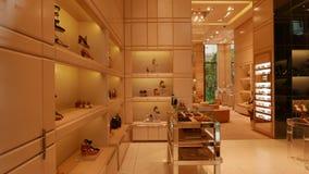 Luxury shoe shop. A luxury shoe shop in Antwerp, Belgium Stock Photos