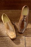 Luxury shoes 06. Two per brown luxury shoes Stock Images