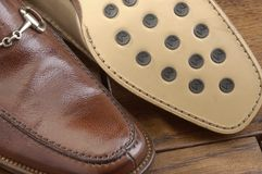 Luxury shoes 13. Two per brown luxury shoes Stock Image