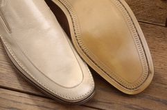 Luxury shoes 14. Two per brown luxury shoes Royalty Free Stock Images