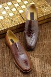 Luxury shoes 36. Luxury shoes from exotic leather Stock Images