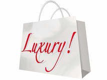 Luxury Shopping Bag. Expensive Exclusive Premium Items Stock Photography