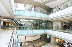 luxury shopping mall interior Stock Photos
