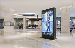 Luxury shopping mall interior, Beijing, China Stock Photos