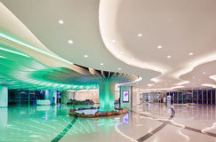 Luxury shopping mall interior, Shanghai, China Stock Photos