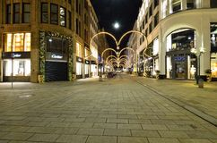 Luxury shopping street in Hamburg city Stock Photo