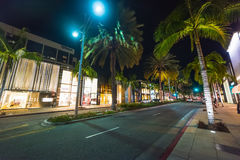 Luxury shops in Rodeo drive Royalty Free Stock Photo
