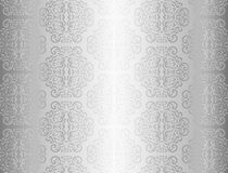 Luxury silver background with ornament pattern Stock Photo