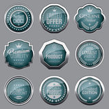 Luxury silver badges. Set of luxury silver badges Royalty Free Stock Photo